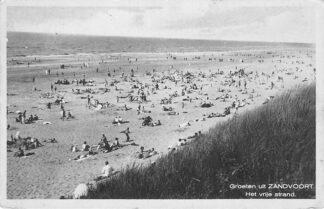 Ansichtkaart Zandvoort Groeten uit Zandvoort 1933 Het vrije strand HC1314
