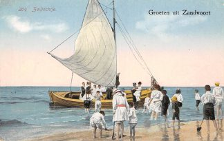 Ansichtkaart Zandvoort Groeten uit Zandvoort 204 Zeiltochtje Strand HC1315