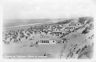 Ansichtkaart Zandvoort Groeten uit Zandvoort 1948 Strand en zeegezicht HC1316