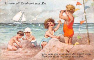 Ansichtkaart Zandvoort Groeten uit Zandvoort aan Zee 1938 HC1320