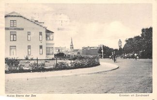 Ansichtkaart Zandvoort Groeten uit  Huize Sterre der Zee 1938 HC1325