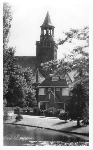 Ansichtkaart Bodegraven 1954 Villa met Hervormde Kerk HC1339