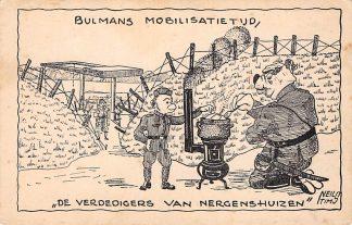 Ansichtkaart Mobilisatie WO2 Bulmans Mobilisatietijd De verdedigers van Nergenshuizen Militair HC1367
