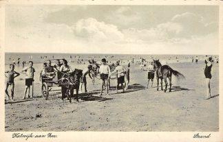 Ansichtkaart Katwijk aan Zee 1937 Strand Paard en wagen HC1375