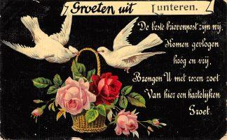 Ansichtkaart Lunteren Groeten uit 1909 HC1384