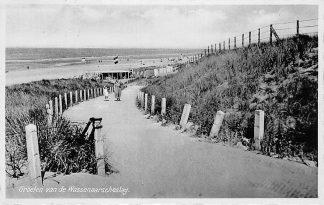 Ansichtkaart Wassenaar Groeten van de Wassenaarscheslag Strand Zee 1936 HC1400