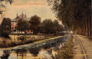 Ansichtkaart Bennebroek Bennebroekerlaan met spoor HC1403