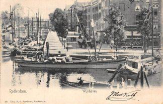 Ansichtkaart Rotterdam Wijnhaven 761 Uitg. H.S. Speelman Binnenvaart schepen 1903 HC141