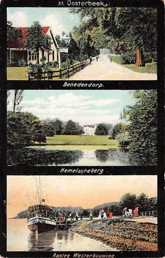 Ansichtkaart Oosterbeek bij Arnhem 1907 Benedendorp Hemelscheberg Aanleg Westerbouwing Schepen HC1413