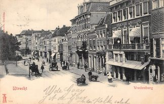 Ansichtkaart Utrecht Vredenburg Paard en wagen Koffiehuis 1901 HC142