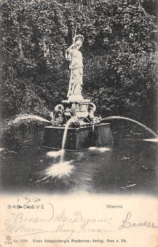 Ansichtkaart Cleve Monument Minerva 1904 Duitsland HC1422
