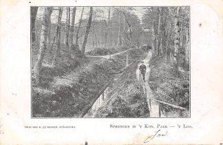 Ansichtkaart Apeldoorn Sprengen in 't Kon. Park 't Loo 1903 HC1447