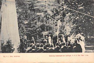 Ansichtkaart Apeldoorn Onthulling Gedenknaald der Leerlingen H.B.S. Kon. Park 't Loo HC1448
