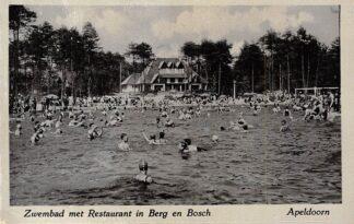 Ansichtkaart Apeldoorn Zwembad met Restaurant in Berg en Bosch HC1451