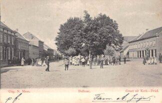 Ansichtkaart Kerkdriel Groeten uit Kerk-Driel Delkant 1903 Maasdriel HC146