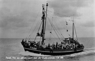 Ansichtkaart Texel Vis- en pleziervaart Oudeschilder TX 88 Vissers schip Schepen De Koog 1961 HC149