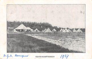Ansichtkaart Nunspeet 1927 Tentenkampterrein N.G.B. HC1504