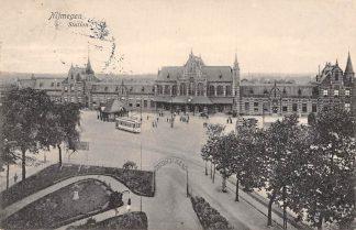 Ansichtkaart Nijmegen 1926 Station Tram Spoorwegen HC1508