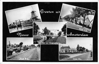 Ansichtkaart Nieuw Amsterdam Haven Veenoord Molen Zijtak O.Z. en W.Z. 1966 Drenthe HC151