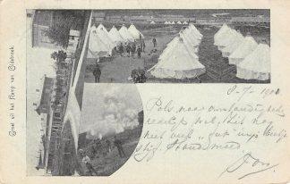 Ansichtkaart Oldebroek 1901 Groeten uit het kamp Militair Soldaten HC1514