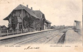 Ansichtkaart Zwammerdam Station 1904 Spoorwegen Treinen Bodegraven HC157