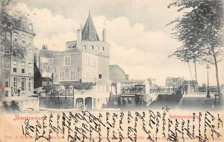 Ansichtkaart Amsterdam 1899 Schreyerstoren Paarden tram paard HC177