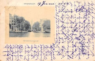 Ansichtkaart Amsterdam 1899 Groenburgwal HC178