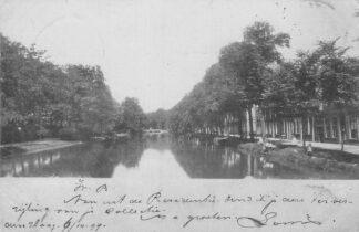 Ansichtkaart Gouda Fluweelensingel met Tiendewegbrug en Plantsoen 1899 HC181