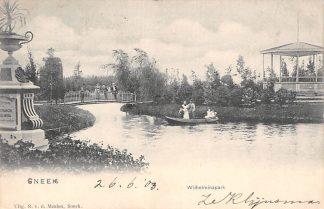 Ansichtkaart Sneek 1905 Wilhelminapark met muziektent HC182