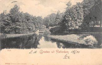 Ansichtkaart Rotterdam 1899 Park HC185