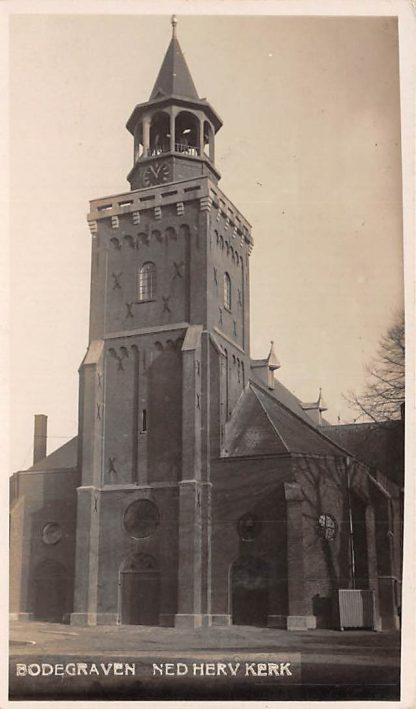Ansichtkaart Bodegraven Fotokaart Ned. Herv. Kerk Reeuwijk HC193