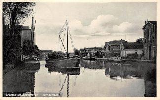 Ansichtkaart Bodegraven 1945 Rijngezicht Binnenvaart Schepen HC195