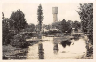 Ansichtkaart Bodegraven Vijver met Watertoren 1950 HC196