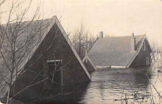 Ansichtkaart Reeuwijk 1926 Fotokaart Overstroming Polders Broekvelden en Vettenbroek Bodegraven Gouda HC204