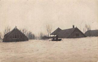 Ansichtkaart Reeuwijk 1926 Overstroming Polders Broekvelden en Vettenbroek Bodegraven Gouda Fotokaart HC205