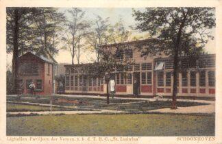 Ansichtkaart Schoonhoven Lighallen Paviljoen der Vereen. t.b.d. T.B.C. St. Ludwina 1930 HC240