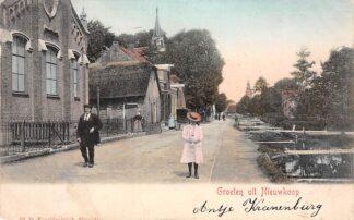 Ansichtkaart Nieuwkoop Groeten uit Nieuwkoop Hervormde en Gereformeerde Kerk Bodegraven HC253
