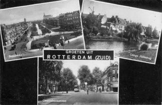 Ansichtkaart Rotterdam Zuid Randweg Lange Hilleweg Oranjeboomstraat Tram HC258