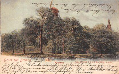Ansichtkaart Duitsland 1899 Molen Bremen Wallpartie Deutschland Europa HC266