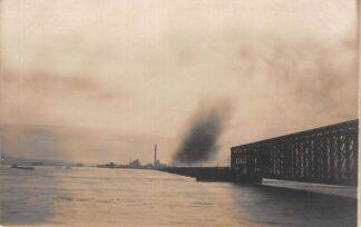 Ansichtkaart Fotokaart onbekend Spoorbrug en Steenfabriek 1920 Waarschijnlijk Maas Waal HC294