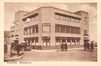 Ansichtkaart Bodegraven Beursgebouw auto HC305