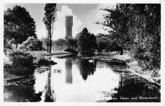 Ansichtkaart Bodegraven Vijver met Watertoren 1956 HC314