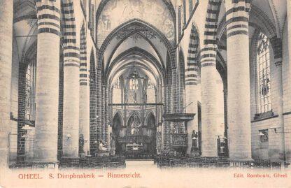 Ansichtkaart België Gheel Geel S. Dimpna kerk Binnenzicht HC326