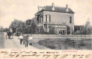 Ansichtkaart Zwammerdam 1903 Stationstraat Paard en wagen 24 D. Kraaijenbrink Bodegraven HC329