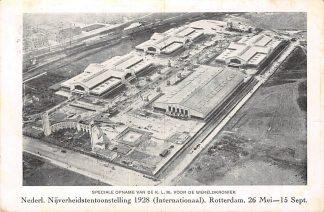 Ansichtkaart Rotterdam Nederl. Nijverheidstentoonstelling 1928 26 mei-15 sept. KLM HC333
