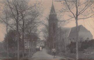 Ansichtkaart Werkendam Fotokaart Hervormde Pastorie en Kerk HC335