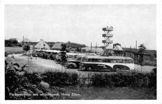 Ansichtkaart Hoog Elten Auto bus Parkeerterrein met uitzichttoren 1955 HC349