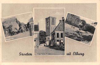 Ansichtkaart Elburg Beekstraat Ned. Herv. Kerk Plantsoen HC358