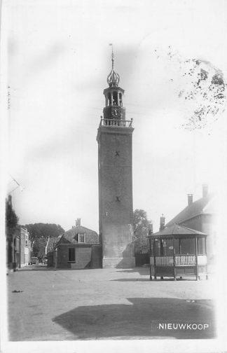 Ansichtkaart Nieuwkoop Fotokaart Toren en muziektent 1933 Bodegraven Alphen aan den Rijn HC361