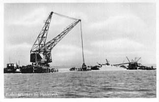 Ansichtkaart Zuiderzeewerken bij Harderwijk Kraan Scheepvaart Flevoland HC375